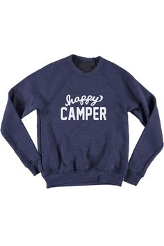 Happy Camper Unisex Crew Sweatshirt