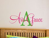 Childrens Decor-  Personalized Name Decal for girls bedroom - Baby Name Decal