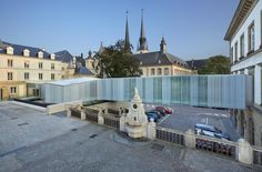 Built by STEINMETZDEMEYER in Lëtzebuerg, Luxembourg with surface Images by Christof Weber. The city of Luxembourg has asked the Atelier Steinmetzdemeyer to design and build the new facilities that will house . Museum, In This Moment, Mansions, Architecture, House Styles, City, Gallery, Building, Places