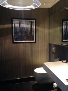 Penthouse Cloakroom Decor, Room, Powder Room, Shower Room, Home Decor, Bathroom Mirror, Round Mirror Bathroom, Bathroom, Cloakroom