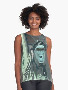 its a cold winter harambe statue of liberty mash up
