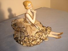 Antique Half Doll Pin Cushion German