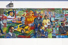 Martin Luther King Jr mural opposite MLK Visitor Center #atlanta http://wayinto.com/atlanta/sweet-auburn-walking-tour/