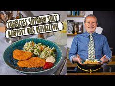 👌Tökéletes👌 SÜTŐBEN sült RÁNTOTT hús rizibizivel 😋 - YouTube Green Kitchen, Meat Recipes, The Creator, Grains, Rice, Tasty, Food, Street, Youtube