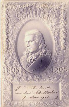 Friedrich Von Schiller, Shopping Spree, Poet, German, Sketches, Illustrations, Frame, Books, Postcards