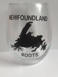 NL crafts: newfoundland roots New Brunswick, Fun Cooking, Newfoundland, Wine Glass, Roots, Montreal Quebec, Glasses, Bulbs, Ontario