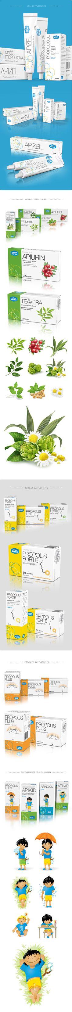 Apipol on Behance Drug Packaging, Medical Packaging, Types Of Packaging, Cosmetic Packaging, Simple Packaging, Pharmacy Design, Design Guidelines, Wayfinding Signage, Medical Technology