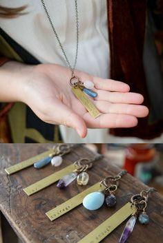 Custom My Soul Mantra necklace
