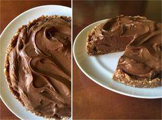 Peanut Butter Cup Pie  (Vegan/Dairy Free) #justeatrealfood #prettypies