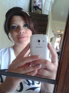 Bridesmaid hair nails and makeup