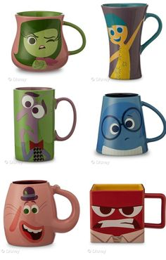 Inside Out - Coffee character mugs. 6 Must Have Inside Out Products the Whole Family Will Love Inside Out - Coffee character mugs. 6 Must Have Inside Out Products the Whole Family Will Love Disney Coffee Mugs, My Coffee, Coffee Cups, Coffee Maker, Starbucks Cup, Disney Tassen, Stars Disney, Disney Inside Out, Disney Cups