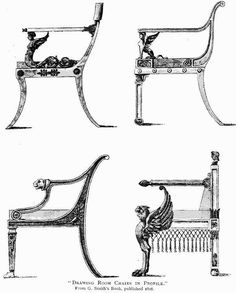 Fine-looking chair drawing Empire Furniture, Built In Furniture, French Furniture, Cool Furniture, Modular Furniture, Drawing Furniture, Chair Drawing, Drawing Room, Stylish Chairs
