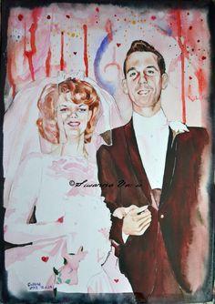 Hugh and Barbara by Susanna Varis water color 2012