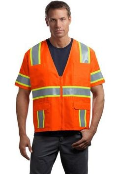 CornerStone® - ANSI 107 Class 3 Dual-Color Safety Vest  $13.99/ea     Sanmar  CSV406