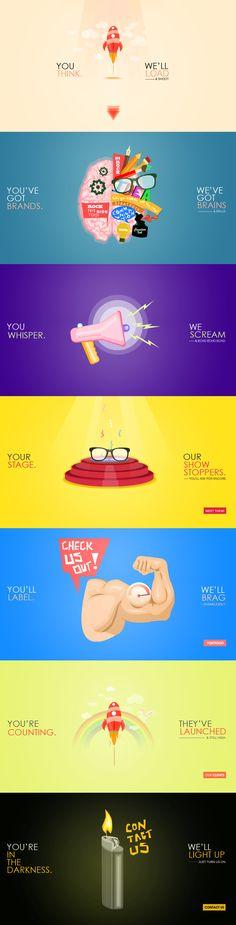 Illustration / Color / Type /// Best Website Designs for Inspiration! Slogan Design, Ad Design, Typography Design, Website Layout, Web Layout, Website Design Inspiration, Graphic Design Inspiration, Color Type, Creative Web Design