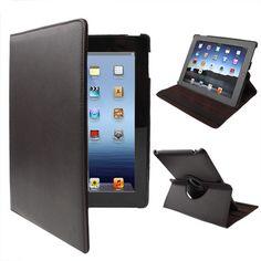 [USD2.90] [EUR2.61] [GBP2.06] 360 Degree Rotatable PU Leather Case with Sleep / Wake-up Function & Holder for New iPad (iPad 3) / iPad 2 / iPad 4, Coffee(Coffee)