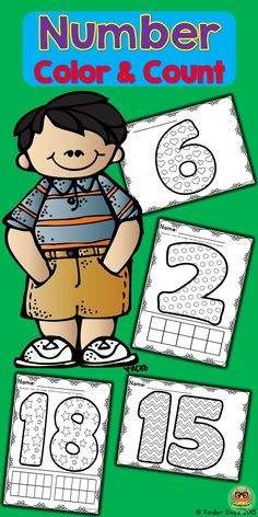 Number: Printable color sheets provide practice with number formation, identification and fine motor skills. Sheets are consistent which makes the practice pages understandable for all (teachers, parents and students). Great for centers, independent work and homework. Packet includes number sheets for numbers 0-20 alternating the 5 patterns. Set 1- color sheet only Set 2- color sheet and ten frame for students to color in the correct amount