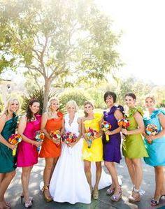 bridesmaids non-classic damas de honor diferentes daminhas não-clássico missmatching não igual demoiselles d'honneur