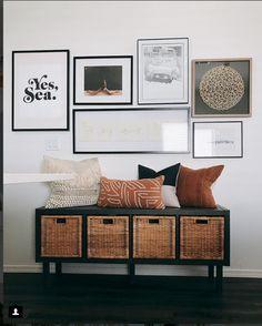 Hartman Haus - DIY from Ikea - Kallax + Baskets. Available in black, white. Hartman Haus - DIY from Ikea - Kallax + Baskets. Available in black, white. Ikea Home-office, Decor Room, Bedroom Decor, Ikea Basket, New Swedish Design, Home Decor Baskets, Best Ikea, Living Room White, The Design Files