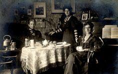 Having tea in the front room