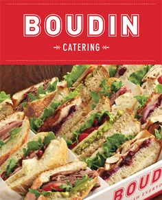 Load LBP's Catering Squares with delicious sandwiches to feed the masses...Just like Boudin Bakery did!