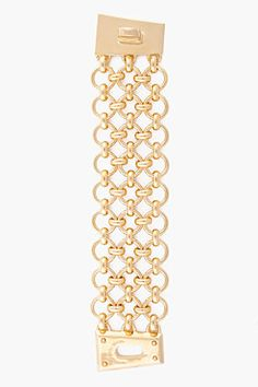MARC BY MARC JACOBS gold Toggles & Turnlocks Mega Mesh Lock Bracelet