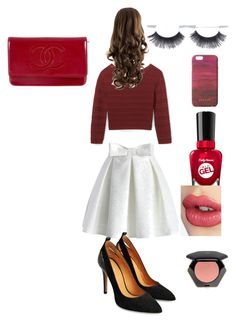 """""""The classic look"""" by jessicacelysse on Polyvore featuring beauty, Chicwish, Rebecca Minkoff, Sally Hansen, Charlotte Tilbury, H&M, Jigsaw and Chanel"""