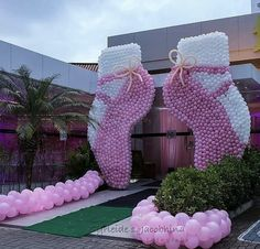 Balloon Decorations Party, Birthday Party Decorations, Baby Shower Decorations, Party Themes, Party Ideas, Baby Shower Fun, Baby Shower Parties, Baby Shower Themes, Ballerina Birthday Parties