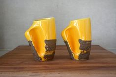 Canadian Pottery WOW by Carol on Etsy Pottery Mugs, Ceramic Pottery, Beer Mugs, Lava, Fun, Handmade, Stuff To Buy, Etsy, Vintage
