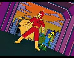 The Simpsons: The Campy Version of Radioactive Man Ha Ha Simpsons, The Simpsons Show, Comic Book Guy, Comic Books, Simpsons Episodes, Krusty The Clown, Supergirl Superman, Squirrel Girl, Power Man