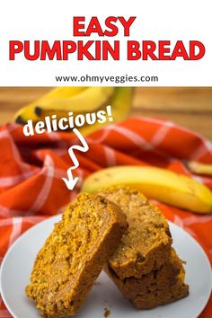 Do you have pumpkin puree leftover from Thanksgiving that you don't know what to do with? Or are you looking for a new recipe for homemade bread? Well, search no more! Here is a delicious recipe for pumpkin bread. #vegetarian #breakfast #bread #baking