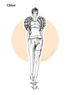 Art and #Fashion #Illustrations #chloè
