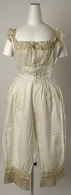 Wedding lingerie (image 1) | American | 1880 | silk, cotton | Metropolitan Museum of Art | Accession Number: 1979.331a–g