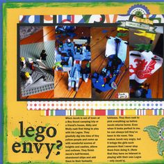 Scrapbook pages with 4 photos - layout by Adriana Puckett   GetItScrapped.com/blog