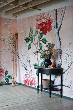 Get decorative wall Painting ideas and also innovative design suggestions to colour your interior home walls with Berger Paints. have a look at Inspiring interior wall design Garden Wallpaper, L Wallpaper, Chinoiserie Wallpaper, Amazing Wallpaper, Modern Wallpaper, Wallpaper Ideas, Wallpaper Inspiration, Interior Inspiration, South Shore Decorating