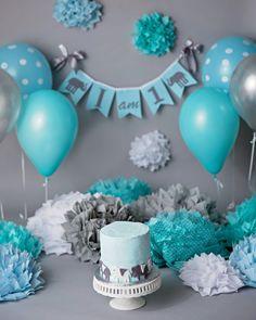 I AM ONE birthday banner / I am one highchair by SweetGeorgiaSweet