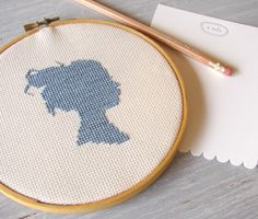 two of my favorite things, embroidery and silhouettes!