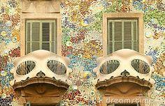 Balcón de las casas Batllo en Barcelona