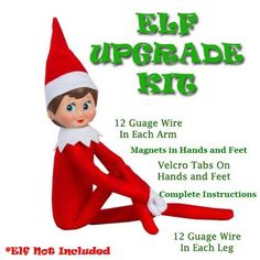 Suffering from Limp Elf Syndrome? Well, ELF is Here to Save the Day!Never suffer again from an Elf that won't stay in place! Can't seem to replicate the id Christmas Activities, Christmas Traditions, Elf Cast, Christmas Elf, Christmas Ideas, Christmas Crafts, Christmas Decorations, Elf Decorations, Christmas Stuff
