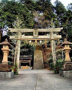 Япония - страна удивлений и загадок....: Японские тории - птичий насест