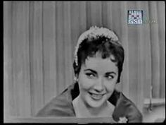 """Elizabeth Taylor on """"What's My Line"""" 1954  She is quite a character"""