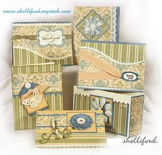 gift card set by Shelli Ford..... in CTMH Veranda Creative Basics paper (retired)