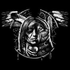Native American Tshirt Wolf Dream Spirit Indian Culture Feather Chief Howl Tribe