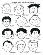 Joseph And His Brothers Sunday School Activity Sheet