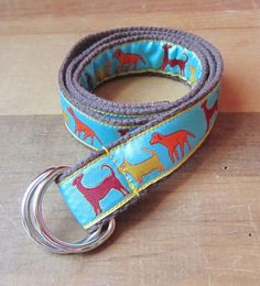 Dog Parade Children's D Ring Belt