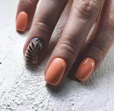 Short Nails Ideas For Summer & Spring - Page 5 of 19 - Vida Joven Peach Colored Nails, Peach Nails, Short Nail Manicure, Pedicure Nail Art, Classy Nails, Stylish Nails, Square Nail Designs, Cute Nail Designs, Short Square Nails