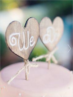 diy cake topper captured by white ivory photography #caketopper #diy #weddingchicks http://www.weddingchicks.com/2014/02/07/white-ivory-photography
