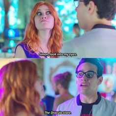 "#Shadowhunters 1x10 ""This World Inverted"" - Clary and Simon"
