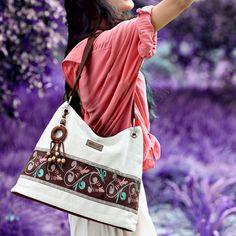 New 2014 Women's handbag anti-static handmade linen cloth national trend bag vintage shoulder bag +Free shipping US $50.00