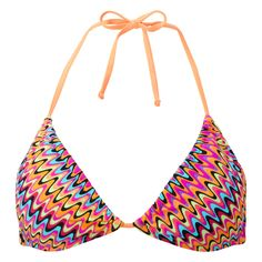 dd1e63f087 Buy Lepel Swimwear India coral zig zag print triangle bikini top online at  Poinsettiastyle.co.uk - Professional swimsuit fitting shop Glasgow